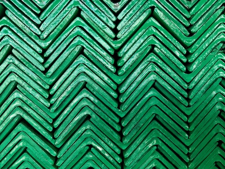 Ankle Steel Bar Stacked In Vertical Linepaint Green Color On