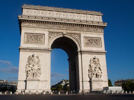 Paris -Arch of Triumph Stock Photo