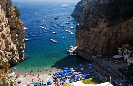 Furore-beach of Amalfi coastline Editorial