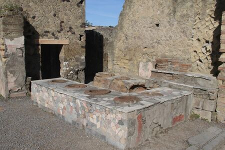 the ruins of Herculaneum-Ancient Kitchen