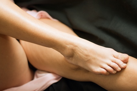 Mature woman nude legs Stock Photo - 11354048