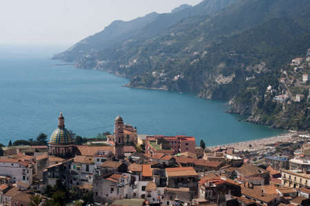 Vietri and Amalfi Coastline Stock Photo
