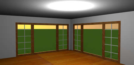 Empty room-3D rendering photo