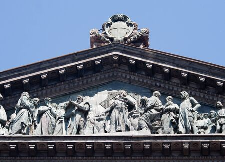 Naples-Detail of the roof of the University Stock Photo - 11647626