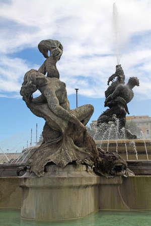 Italy-Rome-Fountain in Piazza della Repubblica photo