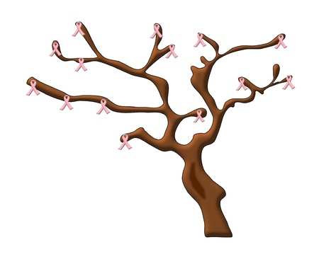 breast cancer tree Vector