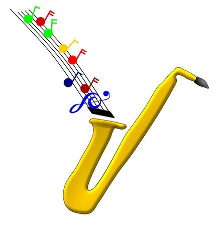 pentagramma musicale: Musica dal sax
