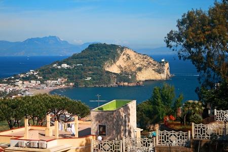 capo: HDR landscape of Capo Miseno (Naples-Southern Italy) Stock Photo