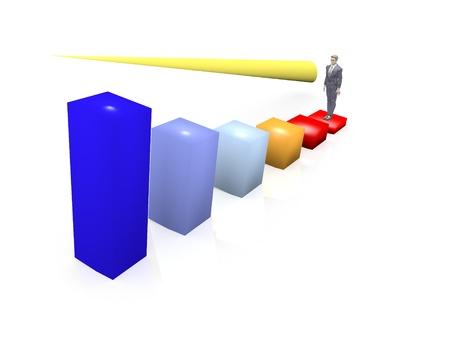 3D Economic growth concept photo