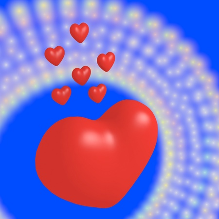 7 red hearts photo