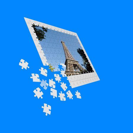 puzzle parisienne photo