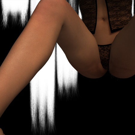 breast comic: erotic pose