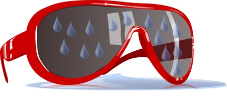 water drops on sunglasses photo