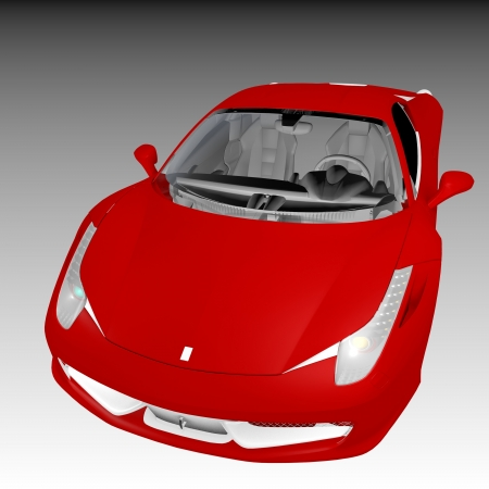 supercar: the red supercar