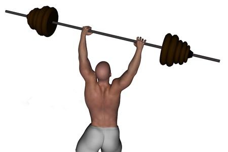 lifting weights: el levantamiento de pesas Foto de archivo