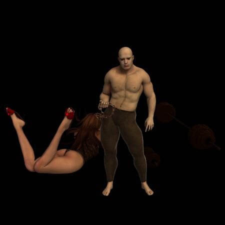 jealous male with wonderful woman