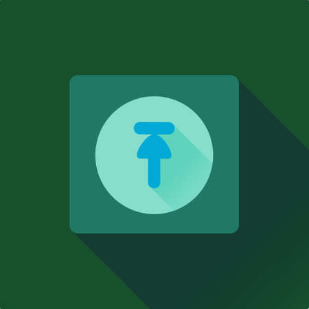 Vector flat design upload icon with green background 矢量图像
