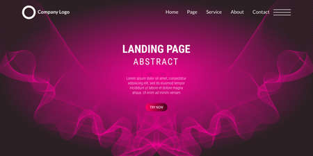 Modern abstract pink gradient wavy background. Very useful for landing page, website, poster, etc. Vector Illustration