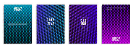 Cover set design. Abstract geometric shapes pattern background with colorful line texture. It is suitable for posters, banners, flyers, etc. Vector Illustration