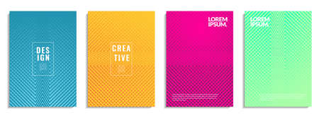 Modern cover abstract background design. Geometric shape pattern with colorful line texture. It is suitable for posters, flyers, banners, etc. Vector illustration 向量圖像