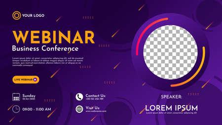 Abstract geometric shape background in purple gradation. suitable for business webinars, marketing webinars, online classroom programs, etc.