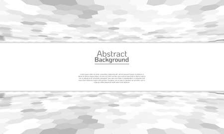 Abstract geometric background with white and gray hexagon shapes. It is suitable for banner, poster, cover, advertising, etc.