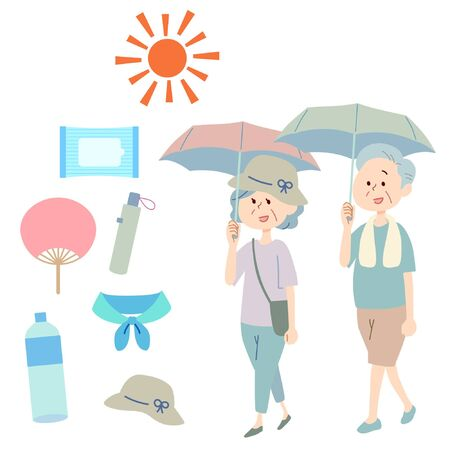 Illustration of attention to heat stroke
