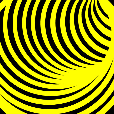Abstract vector background with yellow spiral vortex. Vector illustration for your graphic design.