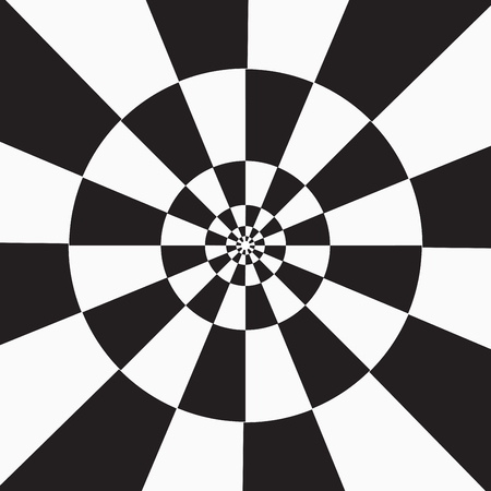 Einfarbiger schwarz-weiß karierter Hintergrund. Vektorillustration für Ihr Grafikdesign.