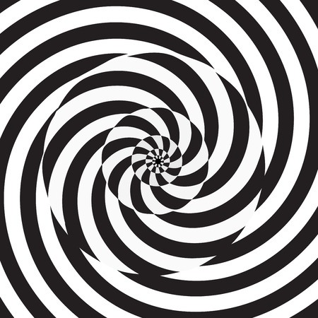 Monochrome circular spiral black and white background. Vector illustration for your graphic design.