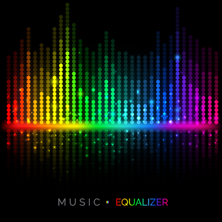Abstract vector colorful music equalizer background. Sound visualization. Vector illustration for your graphic design.
