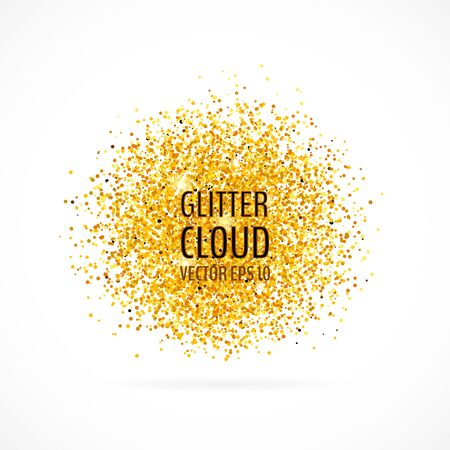 Bright golden shining background. Glittering backdrop.Vector illustration for your graphic design. 向量圖像