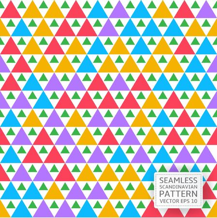 Seamless colorful geometrical pattern. Scandinavian style. Vector illustration for your graphic design.