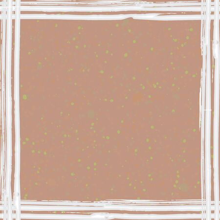 Simple and rough white frame on textured brown paper. Vector illustration for your graphic design.