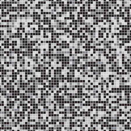 Seamless pixel pattern. Gray scale pixel background. Vector illustration for your graphic design. Ilustração