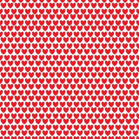 Seamless pattern with rows of red hearts. Repetitive background with red heart. Vector illustration for your graphic design.