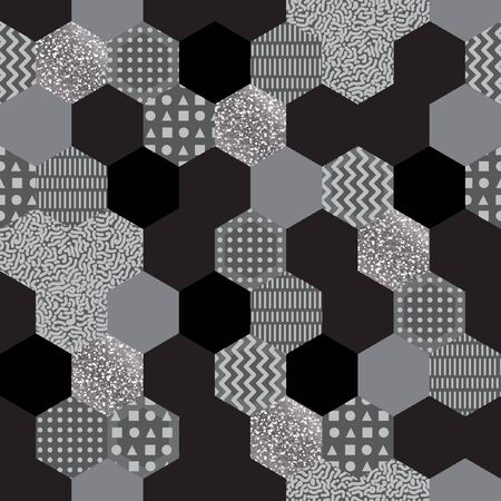 Seamless abstract in memphis studio style. geometric pattern made in 80s style.