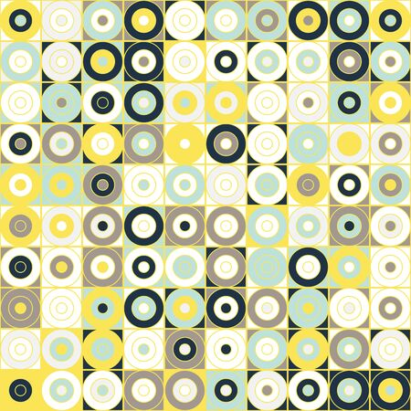 Seamless geometrical pattern with circles. Vector illustration for your graphic design.