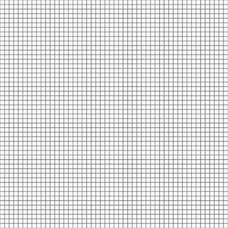 Simple black grid on white background. Seamless black and white mesh pattern. Vector illustration for your graphic design. Ilustração