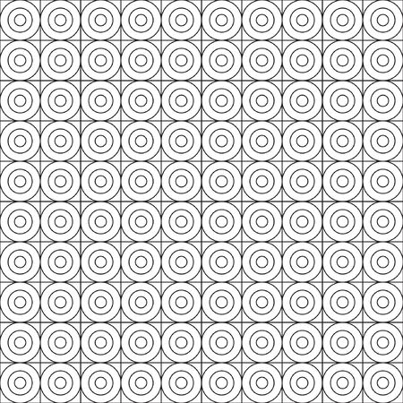 Seamless geoometrical pattern with circles. Vector illustration for your graphic design.
