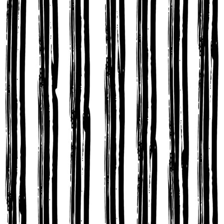 Black and white abstract rustic seamless pattern. Vector illustration for your graphic design. Ilustração