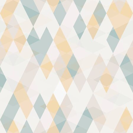 Seamless geometrical pattern in tender tints. Vector illustration for your graphic design.