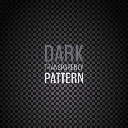 Dark transparency background. Transparency grid with dark vignette. Vector illustration for your graphic design. Иллюстрация