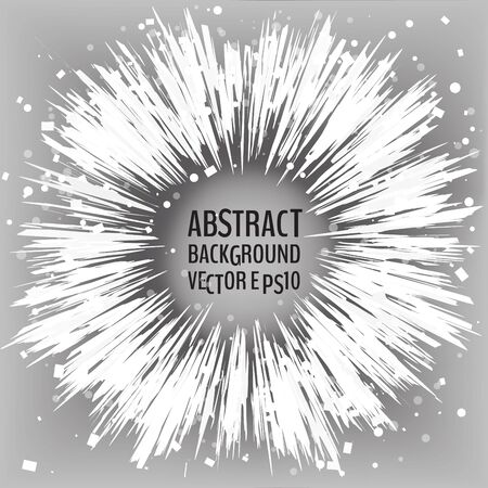 Abstract background with bursting white particles. Vector illustration for your graphic design.