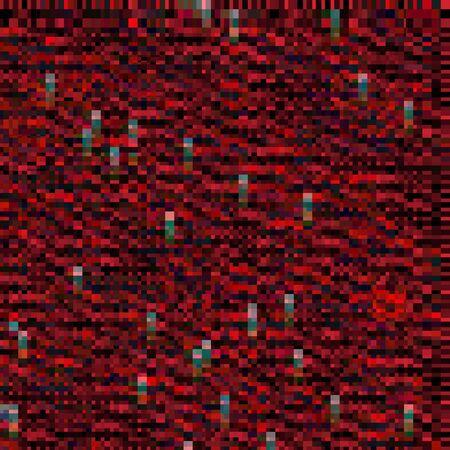 Dark red abstract glitch background. Vector illustration for your graphic design. Ilustração