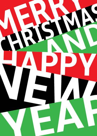 Modern Merry Christmas and Happy New Year banner. Vector illustration for your graphic design. Foto de archivo - 130021007