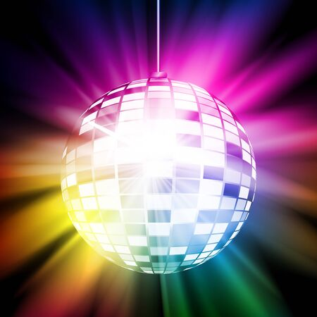 Abstract colorful disco ball. Vector illustration for your graphic design. Ilustrace