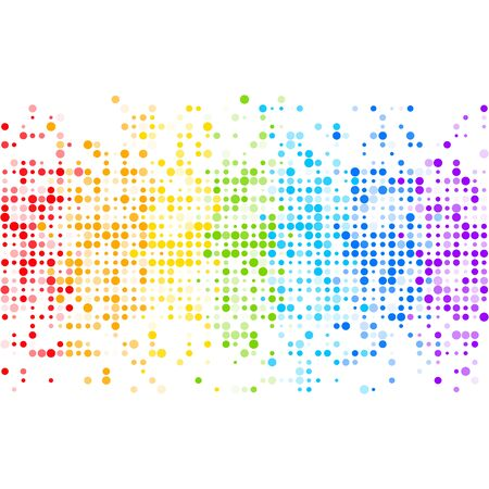 Abstract rainbow vector background. Colorful equalizer backdrop with rainbow colored particles. Vector illustration for your graphic design. 向量圖像