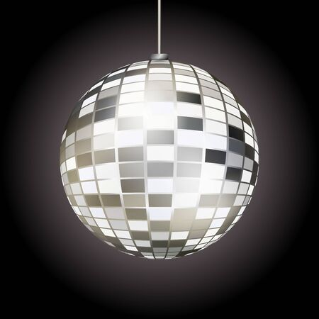 Abstract disco ball. Vector illustration for your graphic design.