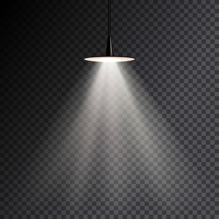 Dim lampe brillante à moitié transparente. Illustration vectorielle pour votre conception graphique.